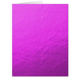 Hoja rosada impresa tarjeta de felicitación grande