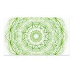 Hoja Spiderweb verde Plantilla De Tarjeta Personal