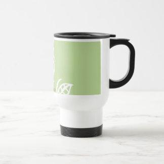 Hoja terma del verde de la taza del comuter adapta