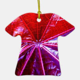 Hoja tropical roja y púrpura del echador adorno para reyes