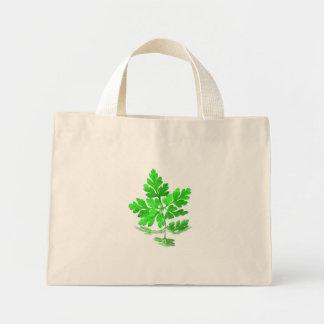 Hoja verde bolsa de mano