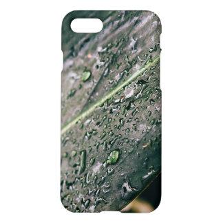 Hoja verde con descensos del agua, Botanics mojado Funda Para iPhone 7