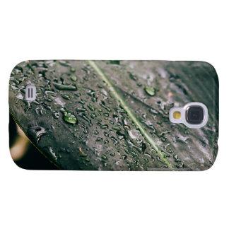 Hoja verde con descensos del agua, Botanics mojado Samsung Galaxy S4 Cover