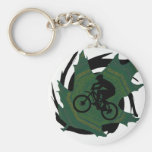 Hoja verde de la bici llavero personalizado