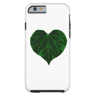Hoja verde del corazón