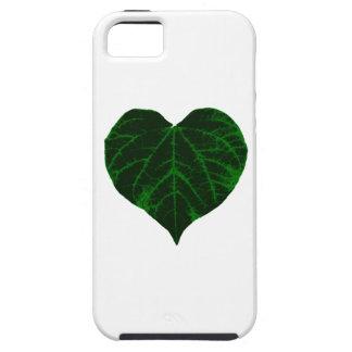 Hoja verde del corazón iPhone 5 Case-Mate carcasa