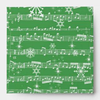 Hoja verde del Musical del navidad del vintage