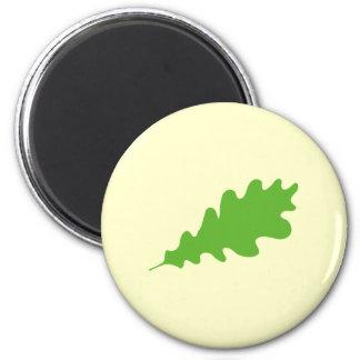 Hoja verde diseño de la hoja del roble imán