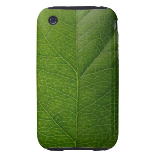 Hoja verde iPhone 3 tough protectores