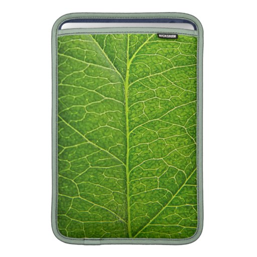 hoja verde fundas para macbook air
