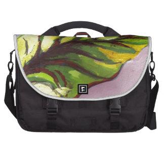 hoja verde grande bolsas para portátil