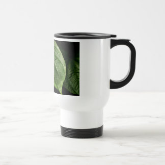 Hoja verde grande taza de viaje