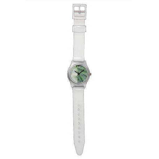 Hoja verde relojes de pulsera