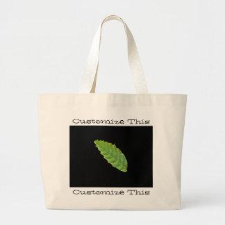 Hoja verde santa; Personalizable Bolsa De Mano