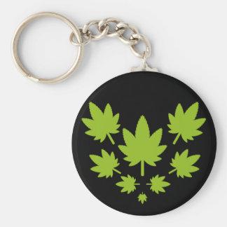Hoja verde vectorial de planta. Vector plant. Keychain