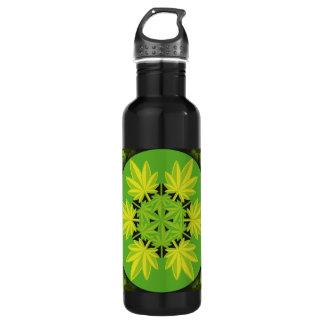 Hoja verde vectorial de planta. Vector plant. Water Bottle