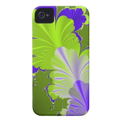 Hoja verde y púrpura Case-Mate iPhone 4 carcasas