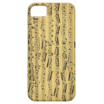 Hoja vieja Musice - iPhone 5 del vintage iPhone 5 Case-Mate Protectores