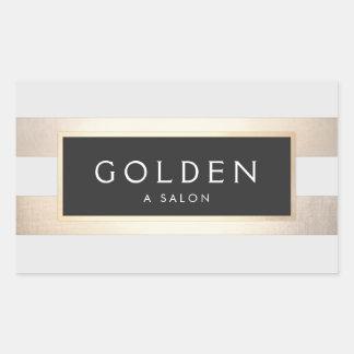 Hoja y negro de oro rayada de la moda moderna pegatina rectangular