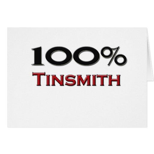 Hojalatero del 100 por ciento felicitacion