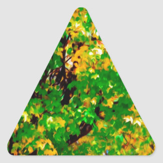 Hojas 1 de la caída calcomanía de trianguladas