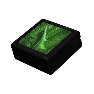Hojas abstractas del verde cajas de regalo