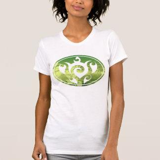 Hojas acuáticas botánicas del agua de la tortuga camiseta