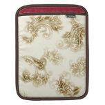 Hojas adornadas de la sepia que brillan intensamen mangas de iPad