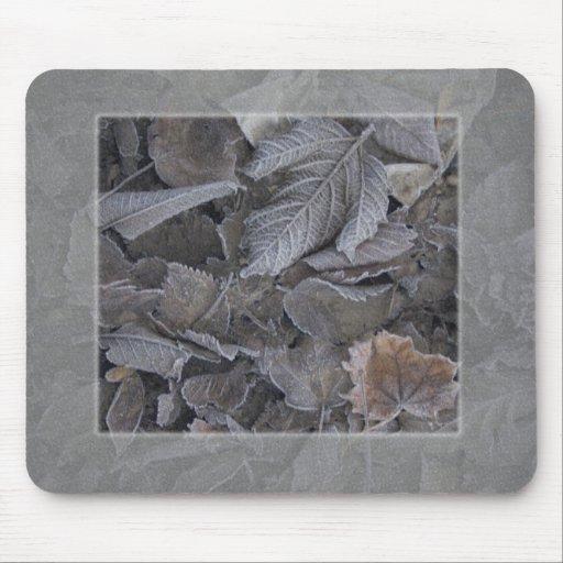 hojas alfombrillas de ratones