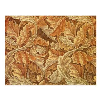Hojas antiguas del papel pintado - Acanthus Postales
