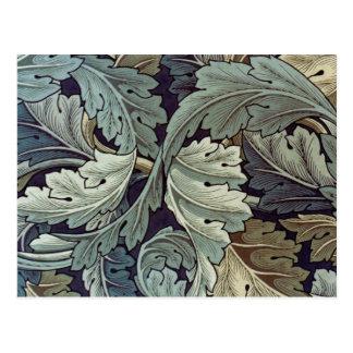 Hojas antiguas del papel pintado postales