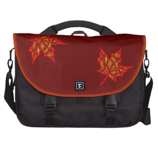 Hojas ardientes bolsas de portatil