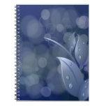 Hojas azules de Bokeh Cuadernos