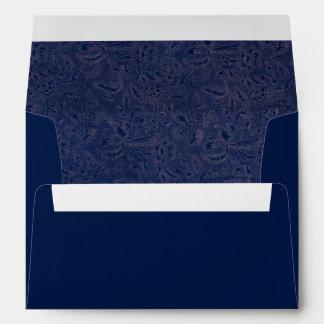 Hojas azules de las flores del zafiro floral retro sobre