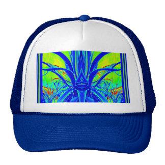 Hojas azules del agavo del ART DÉCO moderno por Gorras