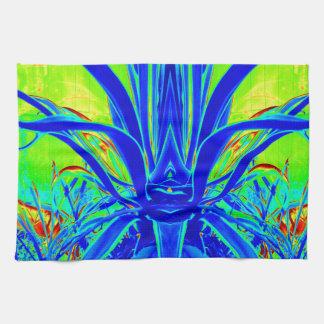 Hojas azules del agavo del ART DÉCO moderno por Sh Toalla De Mano