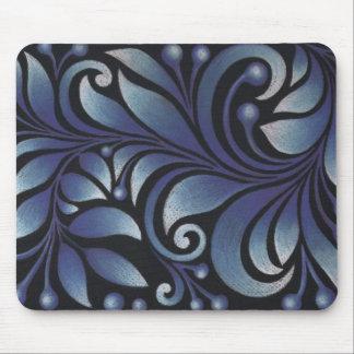 hojas azules alfombrillas de ratones