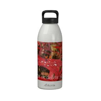 Hojas brillantes del rojo de BREL Botellas De Beber
