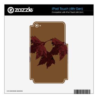 HOJAS CALCOMANÍA PARA iPod TOUCH 4G