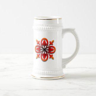 Hojas candentes tazas de café