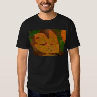 Hojas coloridas del albidum del sasafrás del otoño camisas