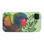 Hojas coloridas del loro del Macaw iPhone 4/4S Funda