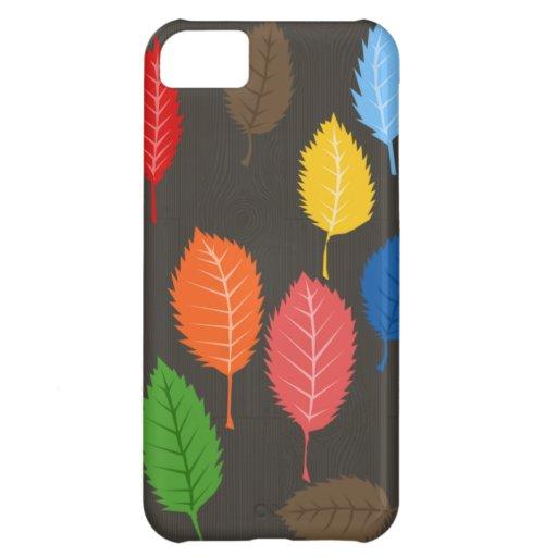 hojas coloridas en viruta funda para iPhone 5C