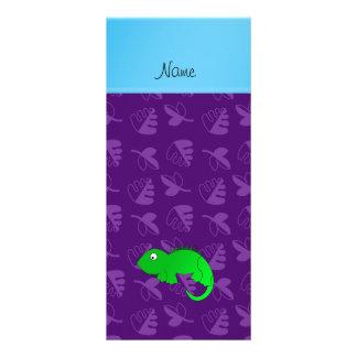 Hojas conocidas personalizadas de la púrpura de la tarjeta publicitaria a todo color