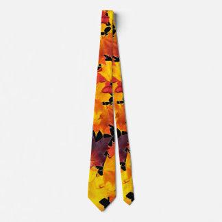 Hojas de arce corbata personalizada