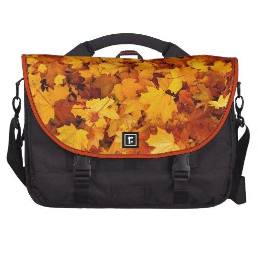 Hojas de arce del otoño bolsa para ordenador