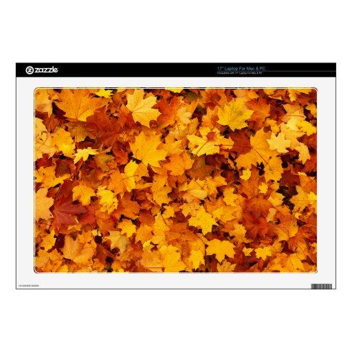 Hojas de arce del otoño skins para 43,2cm portátil