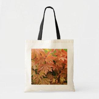 hojas de arce jovenes bolsa tela barata
