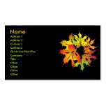 hojas de arce plantillas de tarjeta de negocio
