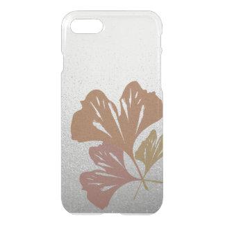 Hojas de bronce del Ginkgo en el modelo de plata Funda Para iPhone 7